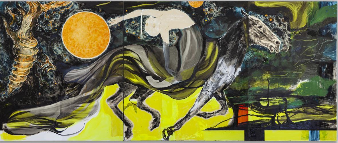 The Nameless Knight, 2021, Oil and Acrylic on Canvas, 190x460 cm.jpg