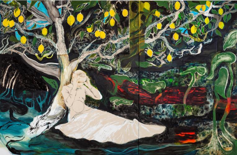 Kryptomanian Lemon Tree, 2021, Oil and Acrylic on Canvas, 190x290cm-.jpg